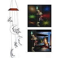 Itian Carrillón viento LED - para decoración del hogar/fiesta/jardín, para jardín, patios, césped, la sala de estar(Xingyue)
