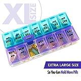 MEDca Wöchentliche Pillenbox, zweimal täglich 1 Pille Organizer Extragroß