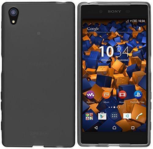 mumbi Schutzhülle Sony Xperia Z5 Hülle transparent schwarz