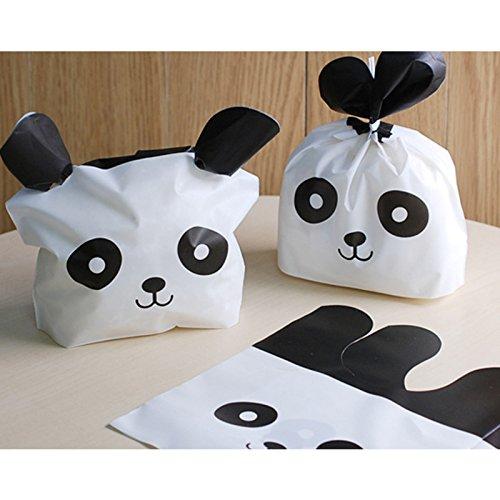 Lanlan 50/lot Cute Panda Kunststoff Candy Biscuit Verpackung Geschenkpapier behandeln Geschenk Tüte (Mini Bars Hershey)