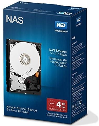 Western Digital Red 4TB NAS Desktop interne Festplatte - 5400 U/min SATA 6 Gb/s 64MB Cache 3.5 Zoll -