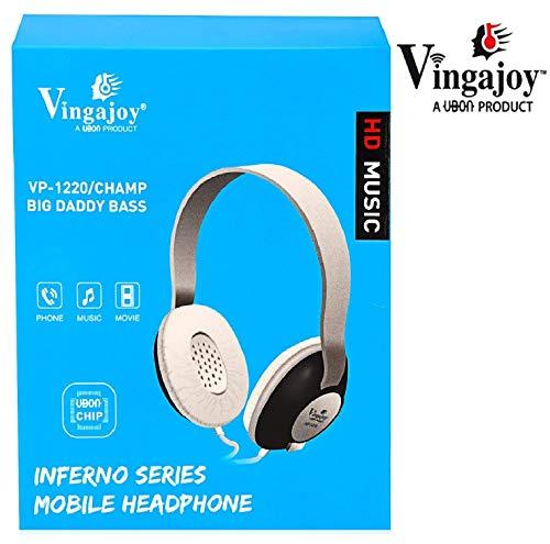 Vingajoy HD Music Headphone VP-1220 Big Daddy Bass Wired Headphone Inferno Series for- Microsoft Lumia 532 -Black