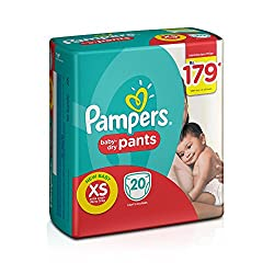 Pampers Pants Extra Small Size Diapers for New Born (20 Count)