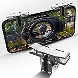Regolatore di gioco PUBG [Placcatura in metallo], Tasto di gioco telefonico OXOQO Induzione sensibile Tasti di scatto e mirino L1R1 Leva di tiro a scatto per joystick per PUBG / Fortnite / Regole di sopravvivenza / Operazioni critiche (1 paio)