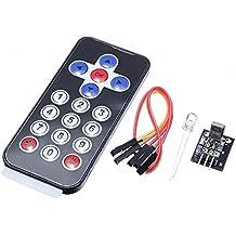 haljia Kit de control remoto por infrarrojos módulo de receptor de infrarrojos IR remoto controlador para