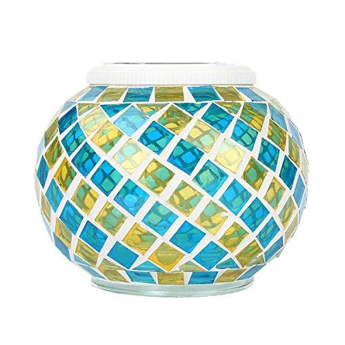 Kitchnexu Lampe Mosaïque Solaire avec 2 LEDs Lumière Magnifique Décorée Jardin Fête Soirée Anniversaire