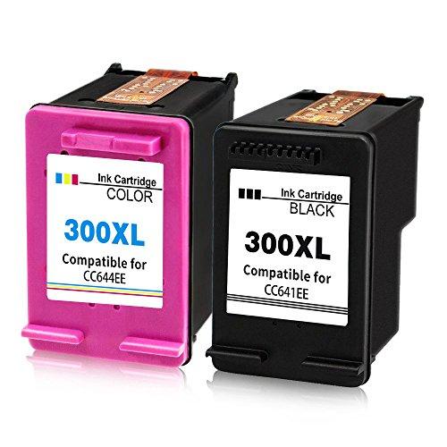 2XL Compatibles HP 300X L Cartuchos de Tinta Reemplazo Para Deskjet D1600D1660D1663D2500D25