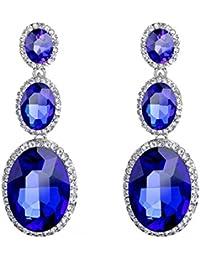 421f1cad61db Cosanter Mujeres Moda de Las Niñas Cute Cristal de Forma de la Gota  Brillante Pendientes Color