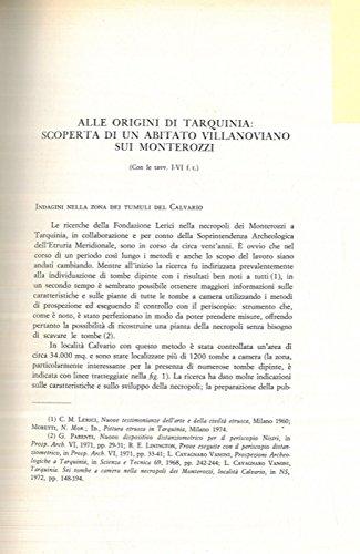 Alle origini di Tarquinia: scoperta di un abitato villanoviano sui Monterozzi.