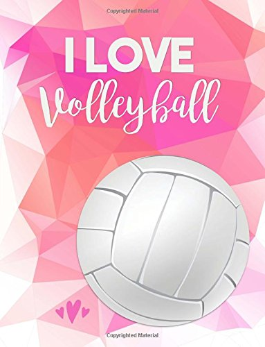 I Love Volleyball: Pink Notebook (Composition Book, Journal) (8.5 x 11 Large)