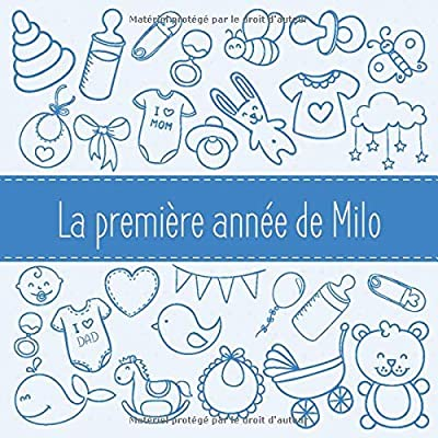 La première année de Milo: Album bébé à remplir pour la première année de vie - Album naissance garçon
