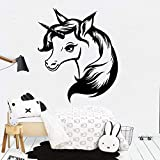 yaoxingfu American-Style Unicorn Cartoon Wall Decals PVC Mural Art DIY Poster Decor Living Room Bedroom Removable Wall Decal Home Decor   57cm X 67cm