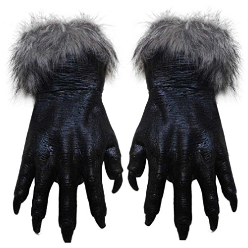 urqueen-halloween-gloves-wolf-cosplay-latex-terror-gloves-grey