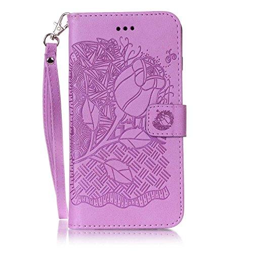 Nouveau style pressé en relief fleurs Windchime motif rétro Folio Flip Stand Wallet Case avec une dragonne pour IPhone 7 Plus ( Color : 15 , Size : IPhone 7 Plus ) 8