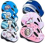 Spokey Fahrradhelm Kinder Radhelm verstellbare Größe | Kopfumfang 44-48/49-56 | Verschiedene Farbversionen (PUHU, 44-48)