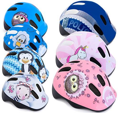 Spokey Fahrradhelm Kinder Radhelm verstellbare Größe | Kopfumfang 44-48/49-56 | Verschiedene Farbversionen (Defence Police, 44-48)