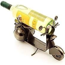 H de Line Soporte para botellas de vino Vespa, soporte para botellas regalo Idea para hombres, vino & Vespa de fans, con Art-Land/Motor Roller de metal, regalo para invitados