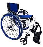 Silla de ruedas plegable Sport Line Aluminio Autopropulsable en Talla 38