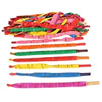 TOOGOO 100 x Assorted Colors Long Rocket Balloons with Tube Party Fillers Fun Toys Kids