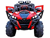Sand & Toys Rocky SUV ATV Rechargeable Battery Operated Ride-On Swing Function Car