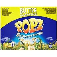 Popz mantequilla de las palomitas de microonda 6 x 90g