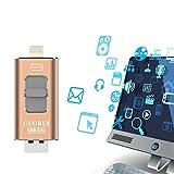 USB Stick für iPhone und Android Serie, 32 GB iPhone Speicher mit hoher Übertragung für Fotos und Videos, Externer Me