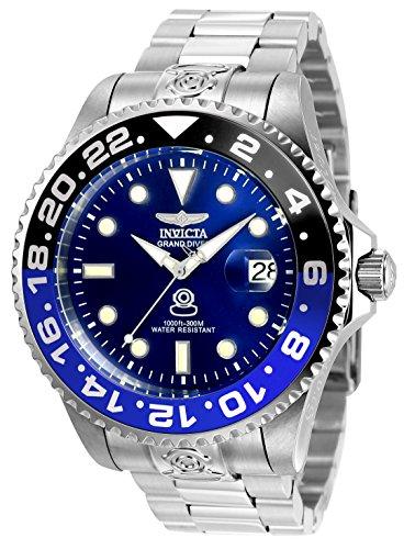 Invicta 21865 Pro Diver Herren Uhr Edelstahl Automatik blauen Zifferblat - Invicta-uhr 47mm