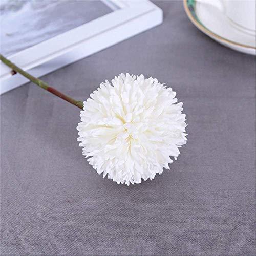 Blume Simulation Blumen Chrysantheme Blume Ball Bud Branch Home Decor Für Hochzeit Home Vasen DekorationWeiß ()