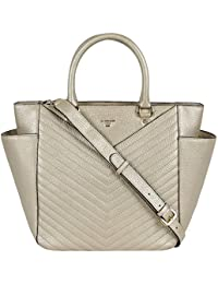 Da Milano LB-4222 Light Gold Leather HandBag