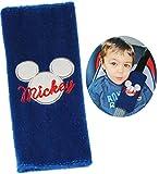 Unbekannt Gurtschoner / Gurtpolster -  Disney Mickey Mouse  - Gurtschutz - für Sicherheitsgurt als Gurt Polster - für Auto / Kindersitz - Schoner Autositz - Kinder Ju..