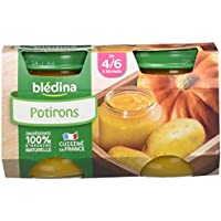 Blédina Mon Premier Petit Pot Potirons dès 4/6 mois 2 x 130 g - Lot de 6