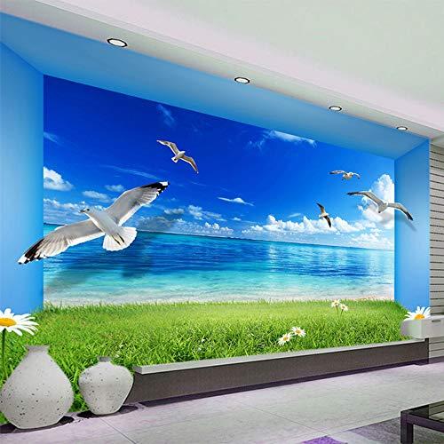 Mddjj Spatial Extension Persönlichkeit Wandbild Tapete Blauer Himmel Grüner Bereich Natur Landschaft Tapeten Wohnzimmer Aufkleber Papel De Parede-400X280Cm