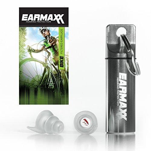 Earmaxx Hearing Protection Bike - Gehörschutz Ohrstöpsel mit Alubehalter - Ideal für Fahrradfahren, Radrennen, Radeln, Geräuschverminderung
