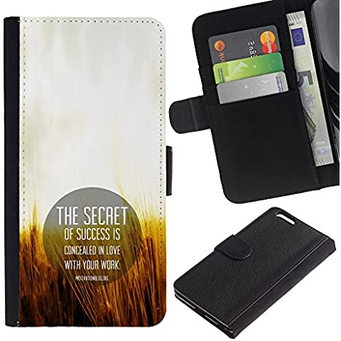 OMEGA Case / Apple Iphone 6 PLUS 5.5 / THE WORLD CROWNS SUCCESS / Cuero PU Delgado caso Billetera cubierta Shell Armor Funda Case Cover Wallet Credit Card