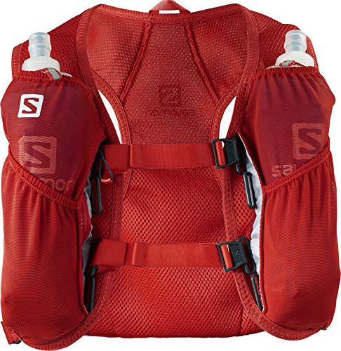 Salomon Agile 2 Set Mochila de Corriendo Ligera 3 L, Unisex Adulto, Rojo (Fiery Red), Talla única