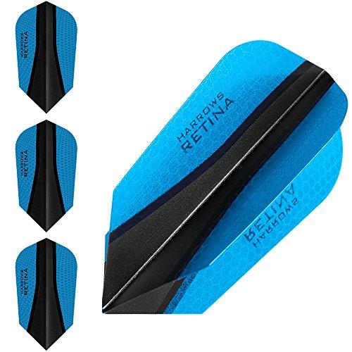 HARROWS retina-x Dart Flights–10Sets (30)–100micron Extra Stark–Slim–Blau