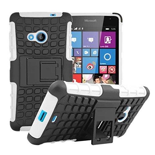 Stoßfest Hard Silikon Kunststoff Kick Stand Case für Microsoft Lumia 535Nokia -