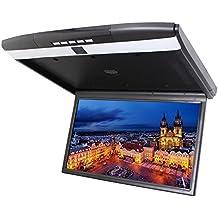 Overhead coche montaje en techo monitor de 17 pulgadas HD LCD de pantalla ancha PAL / NTSC transmisor de FM amplios ¨¢ngulos de visi¨®n de Puerto HDMI 2 Entrada de v¨ªdeo de entrada USB SD