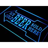 Enseigne Lumineuse s148-b Ice Cold Beer Sold Here Bar Pub Neon Light Sign