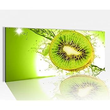acrylglasbild 100x40cm kiwi wasser tropfen obst k che glasbild bilder acrylglas. Black Bedroom Furniture Sets. Home Design Ideas