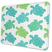 Sea Turtle The Tortoise Reptile Animal Gaming Computer Mouse Pad - Black 25 X 30 Cm