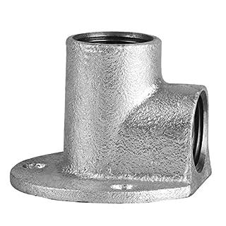 Edelstahl Fitting #471 Deckenwinkel 3/ 4 Zoll 90° Wandscheibe Gewindefitting