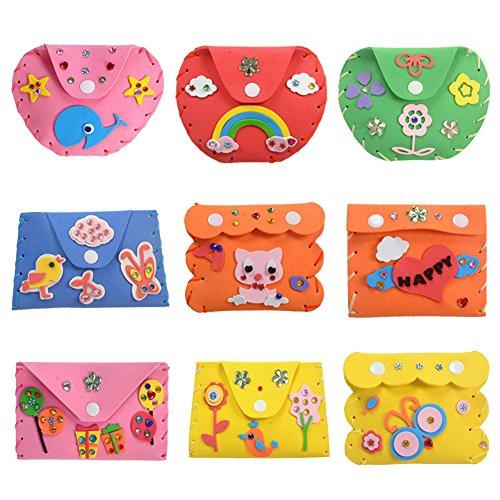 domybest Kinder Kinder DIY 3D EVA-Schaum Spielzeug Early Learning Puzzle Toys Craft Kits Weihnachten Halloween Geschenke Home Kindergarten Decor (Wallet) (Halloween Craft Kindergarten)
