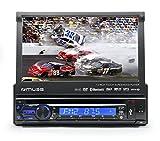 Muse M-728 DR Kfz-Radio mit ausfahrbarem Bildschirm (RDS, DVD, DivX, CD, MP3, Bluetooth)