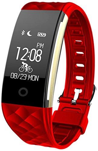 Fitness Armbänder mit Pulsmesser Semaco Fitness Tracker mit Herzfrequenzmesser, Schrittzähler, Schlaf-Monitor, Aktivitätstracker, Remote Shoot, Anrufen / SMS, finden Telefon...