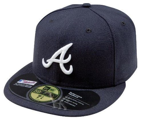 New Era Atlanta Braves authentique Optimal 59 Fifty MLB Casquette Bleu