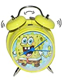 Unbekannt Kinderwecker Spongebob - für Kinder Metall großer Wecker Analog - Alarm Metallwecker - Schwammkopf Robert Jungen Mädchen