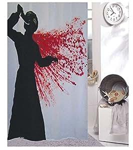 duschvorhang wannenvorhang 39 psycho 39 ma e 180x200cm incl. Black Bedroom Furniture Sets. Home Design Ideas