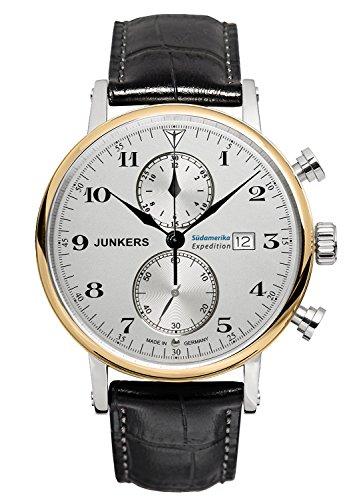 Junkers Herren-Armbanduhr Chronograph Quarz Leder 65865