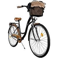 """Milord. 2018 Comfort Bike, Bicicletta da Città Donna, 1 velocità, Marrone - Nero, 28"""""""